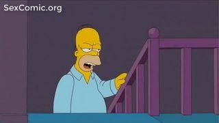 Los Simpsons xxx. Homero  Marge En Su Fiesta de Aniversario.