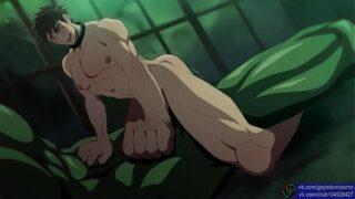 Disfruta como este monstruo penetra sin pudor a su oponente en porno yaoi